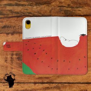 スマホケース 手帳型 iphone8 ケース iPhone7 ケース iphone6s iPhone6 ケース iPhoneX ケース 手帳型 おしゃれ 女性 夏 シロクマ 夏の真ん中で/Bitte Mitte!|casegarden