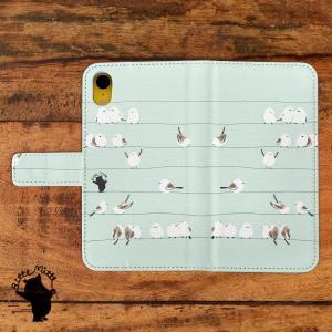 スマホケース 手帳型 全機種対応 シマエナガ 鳥|casegarden