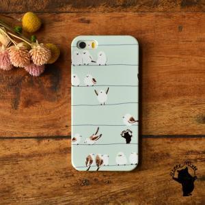 iPhone8 iphoneXR iPhoneX iPhone6s iPhone8plus ケース おしゃれ 耐衝撃 女性 女子 レディース シマエナガ グッズ 鳥柄 シマエナガたち/Bitte Mitte!|casegarden
