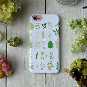 iPhone8 iphoneXR iPhoneXs iPhone6s iPhone7 ケース おしゃれ 耐衝撃 女性 女子 レディース ハード ボタニカル クマの植物見本帖/Bitte Mitte!|casegarden