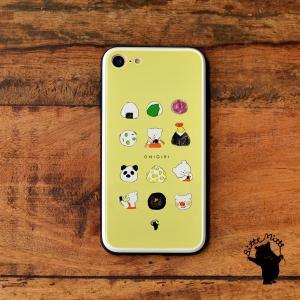 スマホケース iPhone11 iPhone 11 Pro Max ケース おしゃれ ガラス ラウンド スクエア 耐衝撃 強化ガラス iPhone ケース TPU ハードケース 光沢 おにぎり|casegarden