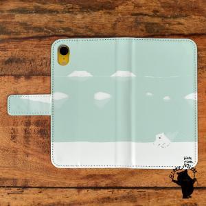 iphone8プラスケース手帳型 おしゃれ iphone8plus ケース 手帳 デザイン GALAXY S8 PLUS GALAXY s8 しろくま シロクマ ひとやすみ/Bitte Mitte!|casegarden
