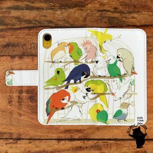 スマホケース 手帳型 全機種対応 鳥 とり t1238