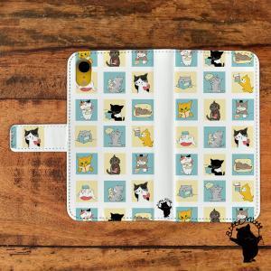 スマホケース 手帳型 全機種対応 猫 ねこ アンドロイド スマホケース 猫 手帳 iphone iphone6 iphone7 iphone8 手帳型 スライド t578|casegarden