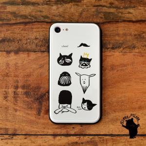 スマホケース iPhone11 iPhone 11 Pro Max ケース おしゃれ ガラス ラウンド スクエア 耐衝撃 強化ガラス iPhone ケース TPU ハードケース 光沢 ねこ 猫|casegarden
