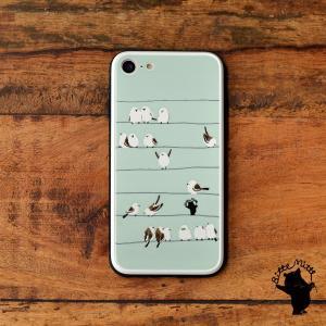 iPhone8 iPhone7 iphoneXs iPhoneXR iPhoneX 強化ガラスケース おしゃれ 女性用 qi対応 スマホケース 耐衝撃 鳥 小鳥 シマエナガ シマエナガたち/Bitte Mitte! casegarden