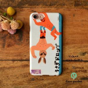 iPhone8 iphoneXR iPhoneXs iPhone6s iPhone7 ケース おしゃれ 耐衝撃 ハード プロレス ルチャ うさぎドロップ/中川貴雄×ケースガーデン|casegarden