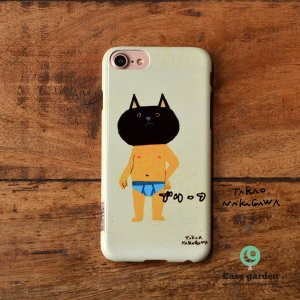 iPhoneケース おしゃれ iPhone8 iphoneXR iPhone6s iPhone7 iPhoneXs ケース 耐衝撃 ハード 猫 ねこ ブリーフ/中川貴雄×ケースガーデン|casegarden