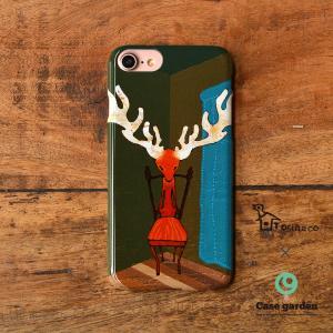 iphone8 iPhone7 iphone6s iPhoneX おしゃれ 女子 レディース 女性 耐衝撃 アニマル 動物 鹿/Torihaco×ケースガーデン|casegarden