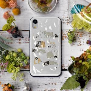 iPhoneケース キラキラ 11 11 Pro Max スマホケース ハード おしゃれ 動物 犬 猫 ねこ 名入れ|casegarden