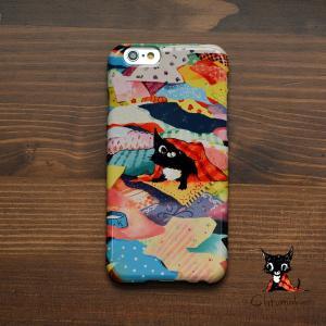 iPhone8 iPhone7 iphoneXs iPhoneX おしゃれ 女子 女性 レディース 耐衝撃 猫 ねこ ネコ chro/Chromaket|casegarden