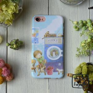 スマホケース iphone8 iPhone7 iphone6s iPhone6 おしゃれ 女性 女子 レディース 猫 ネコ ねこちゃんランドリー/mogelujah!|casegarden