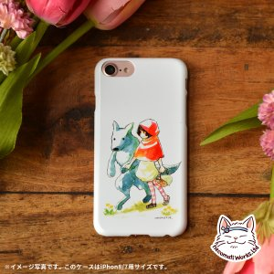 iPhone8 iphoneXR iPhoneX iPhone6s iPhone8plus ケース おしゃれ 耐衝撃 女性 女子 レディース 童話 知育 絵本 オオカミ 赤ずきん/猫街製作所|casegarden