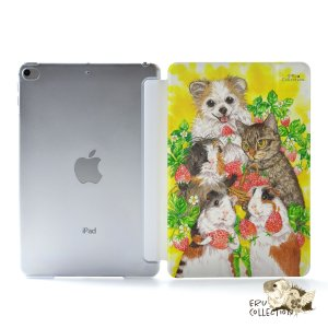 iPad Air4 ケース おしゃれ アイパッドエアー4 カバー ペン収納 ipadair4 クリアケース 透明 かわいい フルーツ いちご|casegarden
