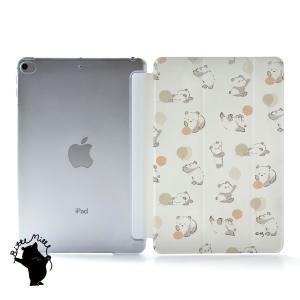 iPad Air4 ケース おしゃれ アイパッドエアー4 カバー ペン収納 ipadair4 クリアケース 透明 かわいい パンダ 名入れ可|casegarden