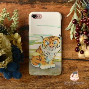 iphone8 ケース ハード アイフォン8 ハードケース iphoneX iphoneケース かわいい スマホケース 虎 トラ 興味津々/Syouhei Sugano|casegarden