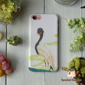 iphone8 ケース ハード アイフォン8 ハードケース iphoneX iphoneケース かわいい スマホケース ツル 鶴 軒昂/Syouhei Sugano|casegarden