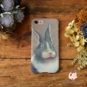 iphone8 ケース ハード アイフォン8 ハードケース iphoneX iphoneケース かわいい スマホケース ウサギ うさぎ 夢想/Syouhei Sugano|casegarden