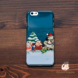 iPhone8 iPhone7 iphoneXs iPhoneX おしゃれ 女子 女性 レディース 耐衝撃 クリスマス まだかなまだかな/Syouhei Sugano|casegarden