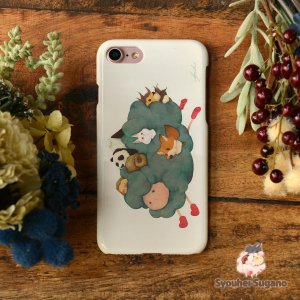 iPhone8 iPhone7 iphoneXs iPhoneX おしゃれ 女子 女性 レディース 耐衝撃 羊 ヒツジ 犬 パンダ みだしなみ/Syouhei Sugano|casegarden