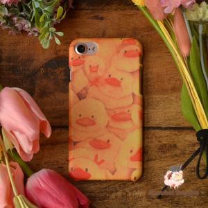 iphone8 ケース ハード アイフォン8 ハードケース iphoneX iphoneケース かわいい スマホケース 鳥 ひよこ おしくらひよこ/Syouhei Sugano|casegarden