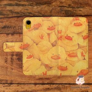 iphone8 ケース 手帳型 おしゃれ アイフォン8 ケース おしゃれ 手帳型 スマホケース iPhoneケース 鳥 ヒヨコ おしくらひよこ/Syouhei Sugano|casegarden