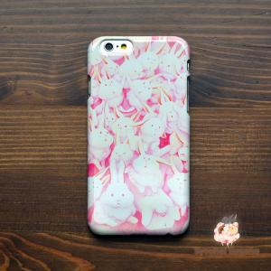 iphone8 ケース ハード アイフォン8 ハードケース iphoneX iphoneケース かわいい スマホケース うさぎ ウサギ うさぎさんまみれ(みんな)/Syouhei Sugano|casegarden