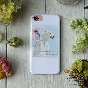 iPhone8 iPhone7 iphoneXs iPhoneX おしゃれ 女性 女子 耐衝撃 レターフロムポーラーベア-ポートレイト-/sososo graphics|casegarden