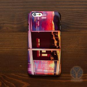 iphone8 ケース ハード アイフォン8 ハードケース iphoneX iphoneケース おしゃれ スマホケース 夕焼け 夕陽 夕日 夕方の教室/YUHEI|casegarden