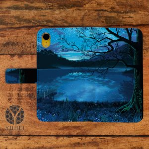 iphone8 ケース 手帳型 おしゃれ アイフォン8 ケース おしゃれ 手帳型 スマホケース iPhoneケース 星空 夜空 宇宙 天の川銀河のすみっこで/YUHEI|casegarden
