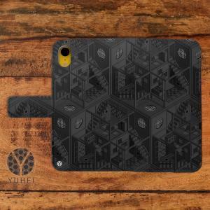スマホケース 手帳型 おしゃれ iphone8 iPhoneXs iPhoneX iPhone7 iphone6s 手帳 ケース 和柄 和室 和風 四畳半パターン2Dグレー/YUHEI casegarden