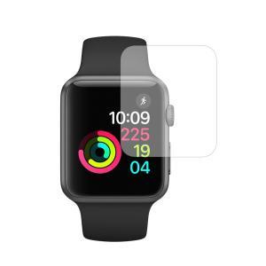 Apple watch 42mm用機種用【強化ガラス同等の硬度9H ブルーライトカット 反射防止 液...