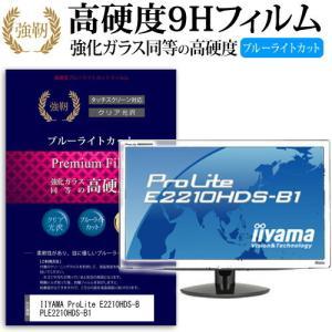 IIYAMA ProLite E2210HDS-B PLE2210HDS-B1 強化 ガラスフィルム と 同等の 高硬度9H ブルーライトカット 光沢タイプ 改訂版 液晶保護フィルム|casemania55