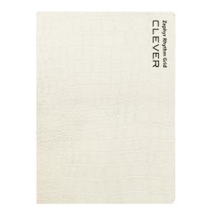 A6ノート用ノートカバー Zephyr Rhythm Grid  ゼファーリズムグリッド  LIBRETA クロコダイル・ホワイト|caseplay