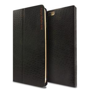 LIBRETTO 6m Ostrich Black iPhone6/6s用 手帳型ケース マグネット 磁石|caseplay