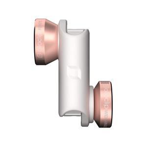 クリップレンズ 4-IN-1 for iPhone 6/6S & 6 Plus/6S Plus Rose Gold/White + ollocase セルカレンズ 専用ケース付|caseplay