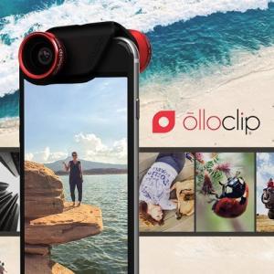 クリップレンズ 4-IN-1 for iPhone 6/6S & 6 Plus/6S Plus  Red/Black + ollocase セルカレンズ 専用ケース付|caseplay