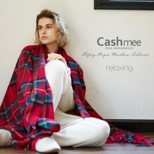 カシミヤ 100% チェックブランケット ビッグストール/2color』【全2色】大判 超大判 カシミア レディース メンズ   毛布|cashmee