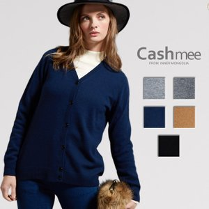 【全5色】『Cashmee カシミヤ100% Vネックカーディガン/cerisier 5color』ニット/レディース/ファッション/カシミヤ/カシミア/カーデガン|cashmee