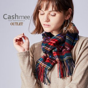 カシミヤ マフラー OUTLET Cashmee カシミア 100% ブラックスチュアート タータンチェックレディース メンズ ファッション カシミヤマフラー|cashmee