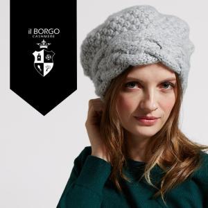 『IL BORGO カシミヤ100% ローゲージキャップ/RAW GAGE CAP』≪送料無料≫帽子/ニット帽/マフラー/レディース/メンズ/ファッション/カシミヤ/カシミア|cashmee