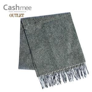 お試し価格 OUTLET Cashmee カシミヤ100% ハウンドトゥース(千鳥格子)マフラー  カシミヤ/カシミア/マフラー/カシミヤ マフラー/カシミア マフラー|cashmee