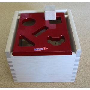 Mポストボックス 赤・白木|cassiopeia