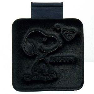 スヌーピー ● シートクッション/角(ブラック)  カー用品|cast-shop