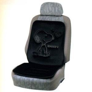 スヌーピー ● シートクッション/ダブル(ブラック)  カー用品|cast-shop