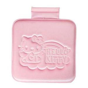 ハローキティ プレスクッション ピンク ★キティレインボー★★カー用品★ キャラクター雑貨 ラフラフ
