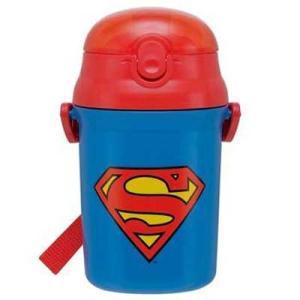 スーパーマン ●  [SST3H]プッシュオープン式シリコンストローボトル 340ml|cast-shop