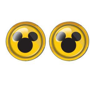 ディズニー ミッキー  ナンバーボルトキャップ 三丸イエロー イエロー ★カー用品★[443456]|cast-shop
