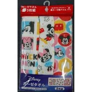 ディズニーミッキー&ミニー ガーゼタオル3枚組セット プレイ...