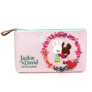 くまのがっこう ペンポーチ ピンク Jackie and David 809357 の商品画像|ナビ